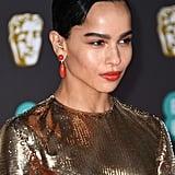 Zoë Kravitz's Coral Lipstick at the 2020 BAFTA Awards