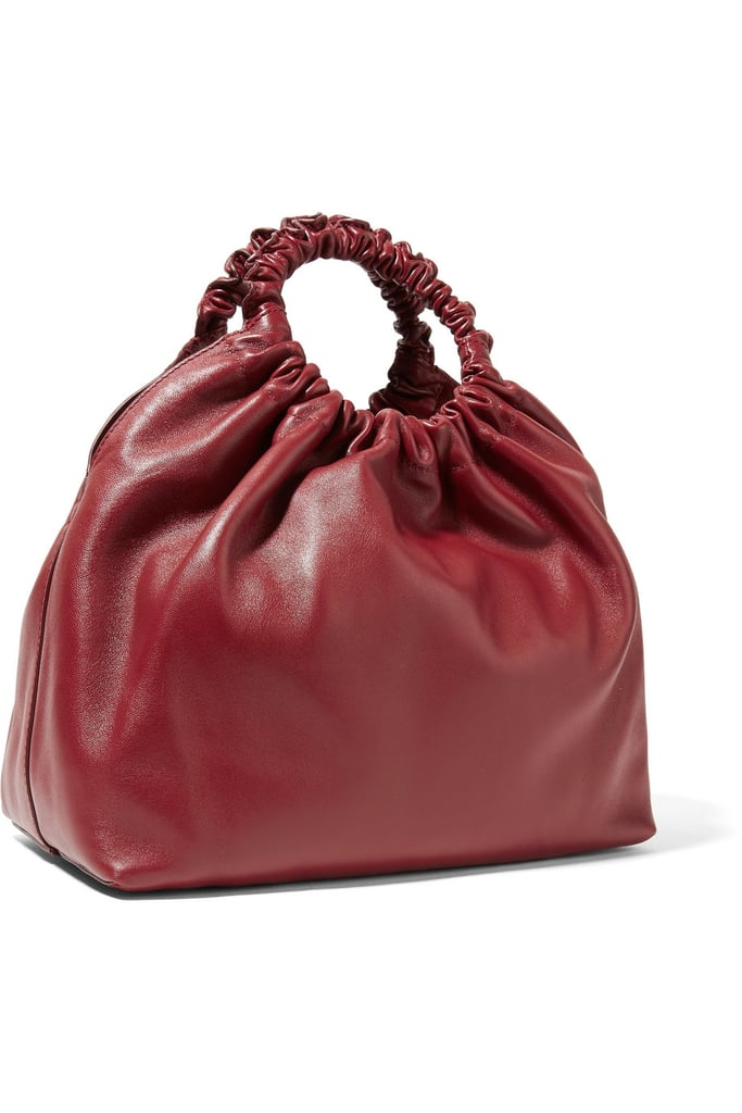 The Row Double Circle Medium Leather Tote