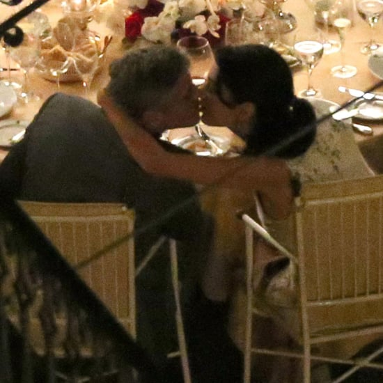 George Clooney and Amal Alamuddin Kissing in Italy