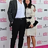 Francois-Henri Pinault and Salma Hayek on the red carpet at the Spirit Awards 2013.