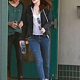 Kristen wore jeans for her casual day.