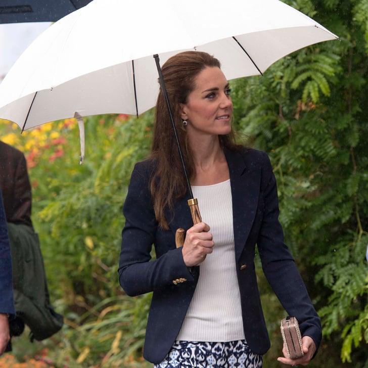 Kate Middleton Wears Gap Printed Pants September 2016