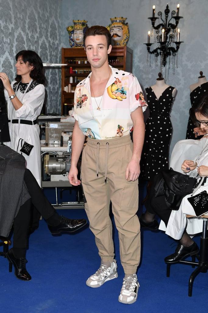 Cameron Dallas at the Dolce & Gabbana Fall 2020 Show