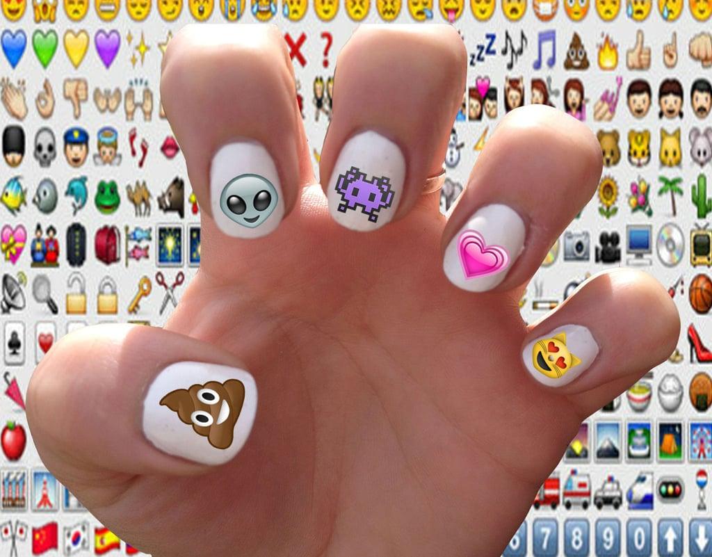 Emoji nail decals ($5)