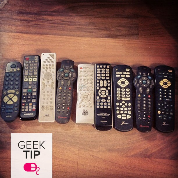 Organize Your Remote Controls