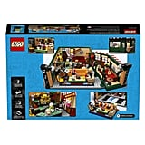 The Back of the Friends Central Perk Lego Set Box