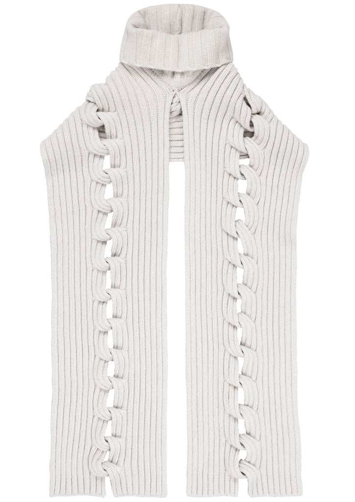 Ribbed Cable Knit Scarf ($325)