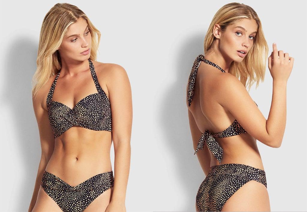 Safari Spot Twist Halter Bikini Top ($119.95).