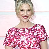 Showing support for designer Carolina Herrera, Ali Larter attended her new shop opening on Rodeo Drive. Ali styled her hair up with tousled tendrils framing her face, and she opted for a bright pink lip hue that complemented her dress.