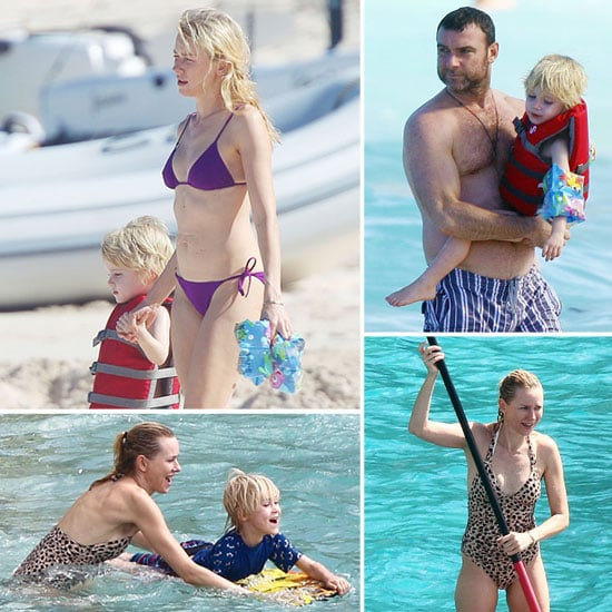 Naomi Watts Bikini Pictures in St. Barts With Her Family