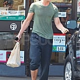 Ryan Gosling looking like he just left the gym.