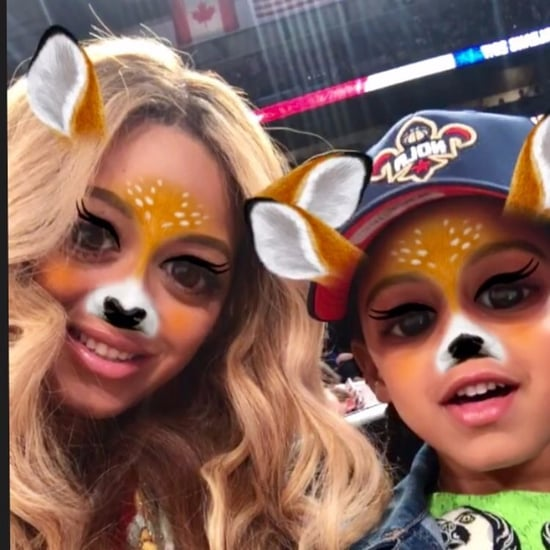 Beyoncé and Blue Ivy NBA All-Star Game Selfie 2017