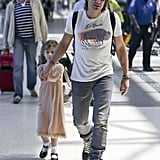 Keith Urban held his daughter Sunday Rose's hand at LAX as they headed to Cannes on Friday to join mom Nicole Kidman.