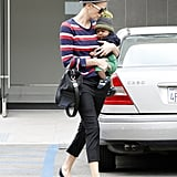 Charlize Theron and baby Jackson spent the day in Beverly Hills.