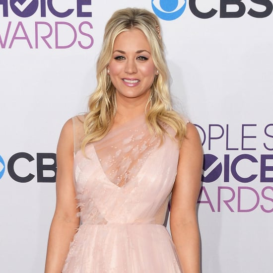 Kaley Cuoco in a Pink Dress at People's Choice Awards 2013