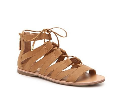 For a subdued take on the daring knee-high pair, these sandals ($59.95) are a no-brainer to wear with your favorite casual outfits, such as a tee and cutoff shorts or a floral-print minidress and floppy straw hat.