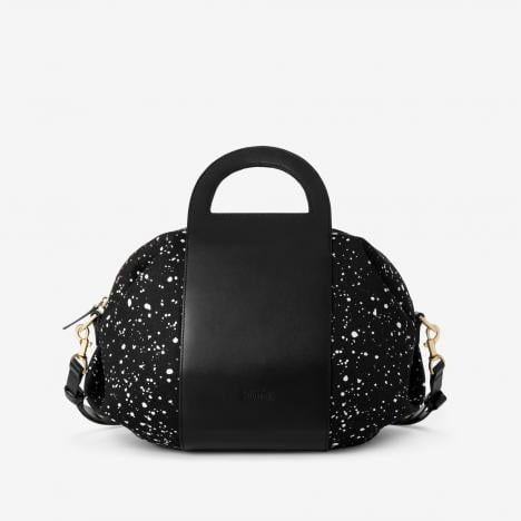 When I'm running to and from Connecticut for the holidays, I won't need a large bag to get me through. Rather, Kate Spade Saturday's graphic design ($160) is the perfect size to tote to Grand Central and compact enough to fit on my lap.  — RM