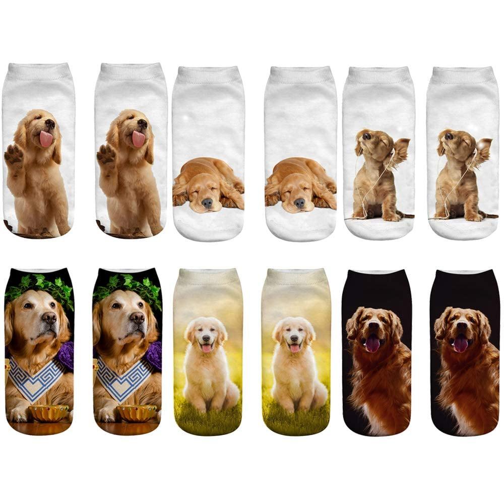 Lovely 3D Golden Retriever Ankle Socks
