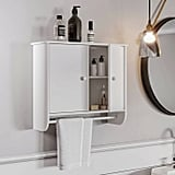 Wall-Mounted Cabinet With Towel Bar