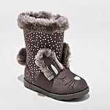 Cat & Jack Toddler Girls' Kori Bunny Cozy Fashion Boots - Gray