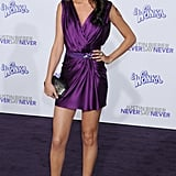 Selena's silky purple Reem Acra mini was a total showstopper at the premiere of boyfriend Justin Bieber's Never Say Never in 2011.