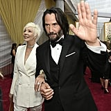 Patricia Taylor and Keanu Reeves at the 2020 Oscars