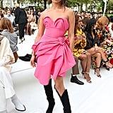 Shanina Shaik at the Carolina Herrera New York Fashion Week Show