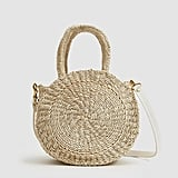 Clare V. Woven Petite Alice Bag in Cream