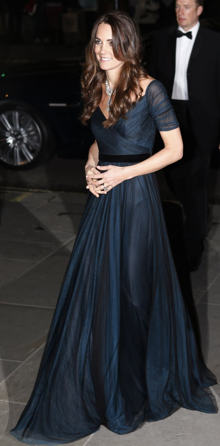 Kate Middleton In A Jenny Packham Gown Kate Middleton
