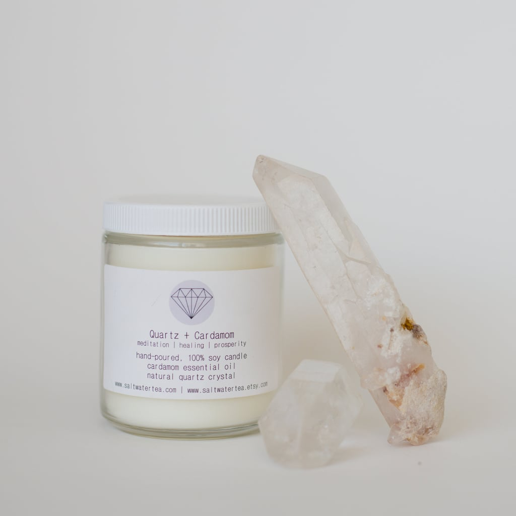 Quartz and Cardamom Soy Crystal Candle ($26)