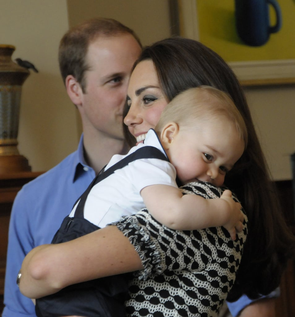 When He Curled Up on the Duchess of Cambridge's Shoulder