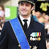 Prince Carl looked sharp at the 2012 wedding of Prince Guillaume of Luxembourg and Stephanie de Lannoy.