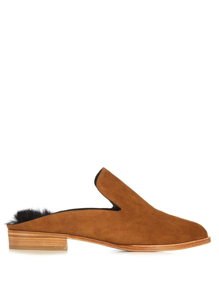 Robert Clergerie Alice suede slip-on loafers ($395)