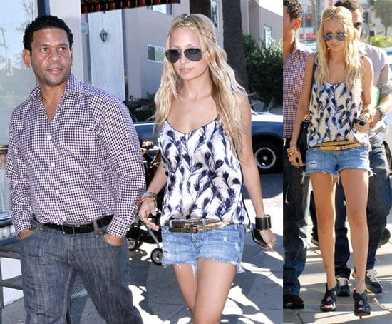 Photos of Nicole Richie in LA, Wearing House of Harlow Jewelry, Guest Starring on Tonight's Chuck