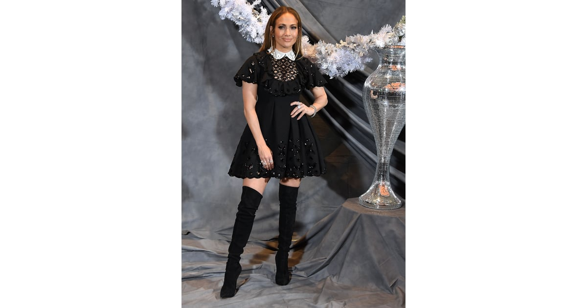 Jennifer Lopez S Black Minidress At Second Act Photo Call