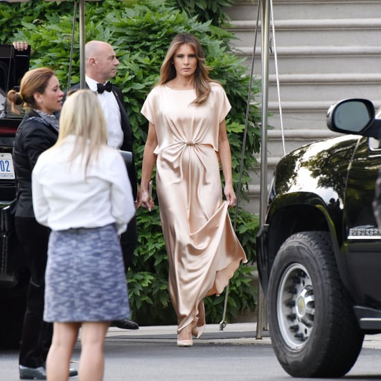 Melania Trump Wearing Monique Lhuillier Gown