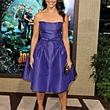 Kristin Davis wore Monique Lhuillier at the premiere of Journey 2: The Mysterious Island.