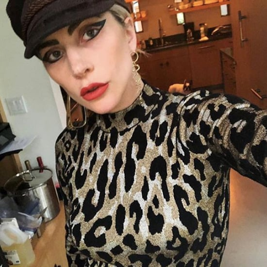 Lady Gaga Versace Leopard Outfit