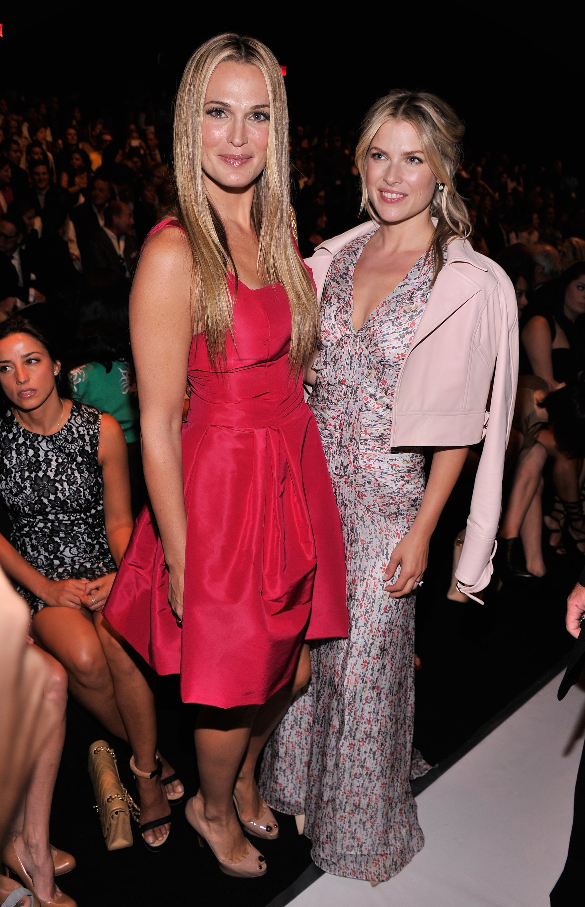 Molly Sims and Ali Larter were on hand for the Carolina Herrera show on Monday.