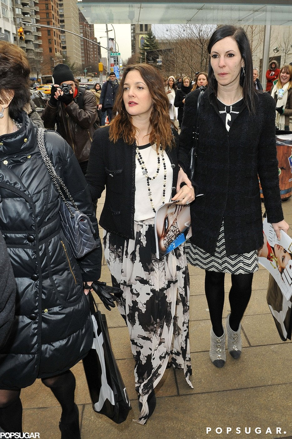 Drew Barrymore Parties With Katie Holmes Pre Fashion Week