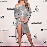 Gigi Wearing a Slitted Paco Rabanne Dress at the Daily Front Row Awards