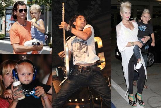 Photos of Gavin Rossdale, Kingston Rossdale, Gwen Stefani, Zuma Rossdale at Gavin's Concert in LA