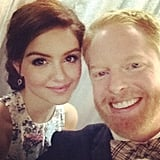 Jesse Tyler Ferguson ran into his Modern Family costar Ariel Winter. Source: Instagram user jessetyler