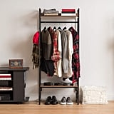 Iris USA Metal Garment Rack With Side Racks