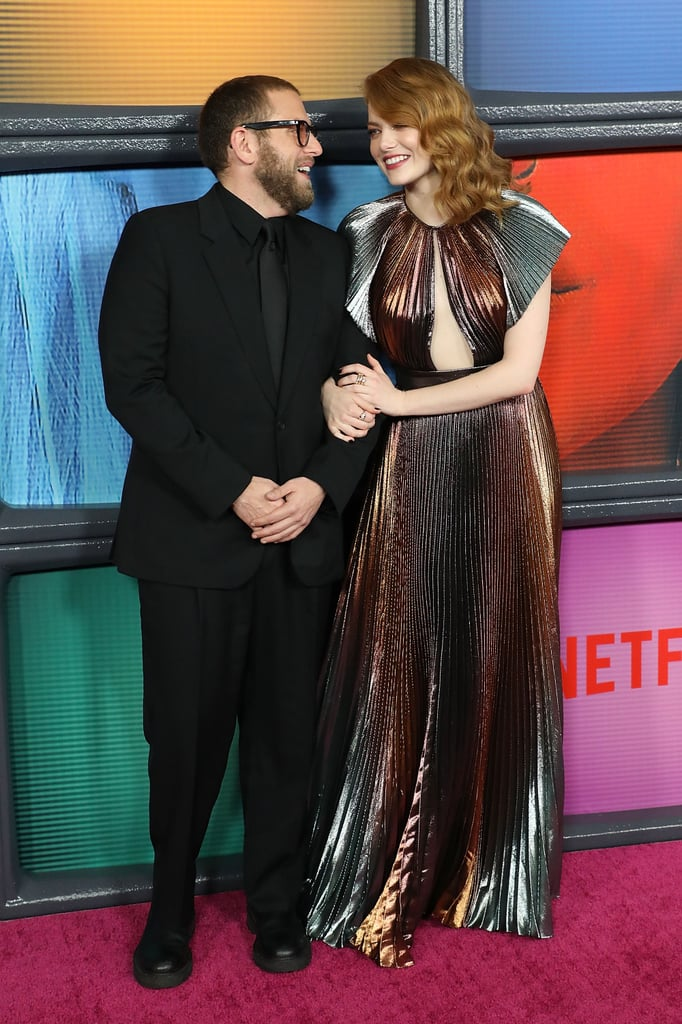 "Emma Stone and Jonah Hill are back together again! After costarring in Superbad more than 11 years ago, the two are set to reunite onscreen in Netflix's upcoming mini-series Maniac. On Thursday, the pair looked as happy as can be as they attended the show's premiere in NYC. Aside from mingling with their costars Julia Garner and Justin Theroux on the red carpet, the two couldn't contain their laughter as they posed for a few photos together.  And the cuteness didn't stop there. Jonah couldn't help but gush about his talented costar as he talked with ET. ""Honestly one of the crazy things you realize — and I've been thinking all about it because of tonight — is we've been friends for a decade, we worked together 12 years ago, and then we've been friends for that long,"" Jonah said. ""She's so good, so brilliant. I get to be friends with artists I really admire, that's pretty amazing. And watching someone I've been friends with for so long become so gifted and so recognized is special.""  Seriously, how adorable is their friendship? See more of their fun-filled appearance ahead, then get details on Emma's glamorous dress."