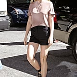 Gwyneth Paltrow Wearing a T-Shirt and Shorts