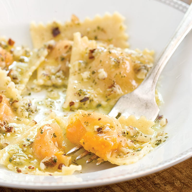 Squash Ravioli With Sage and Hazelnut Brown Butter Sauce