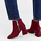 Stradivarius Zip Side Heeled Boots