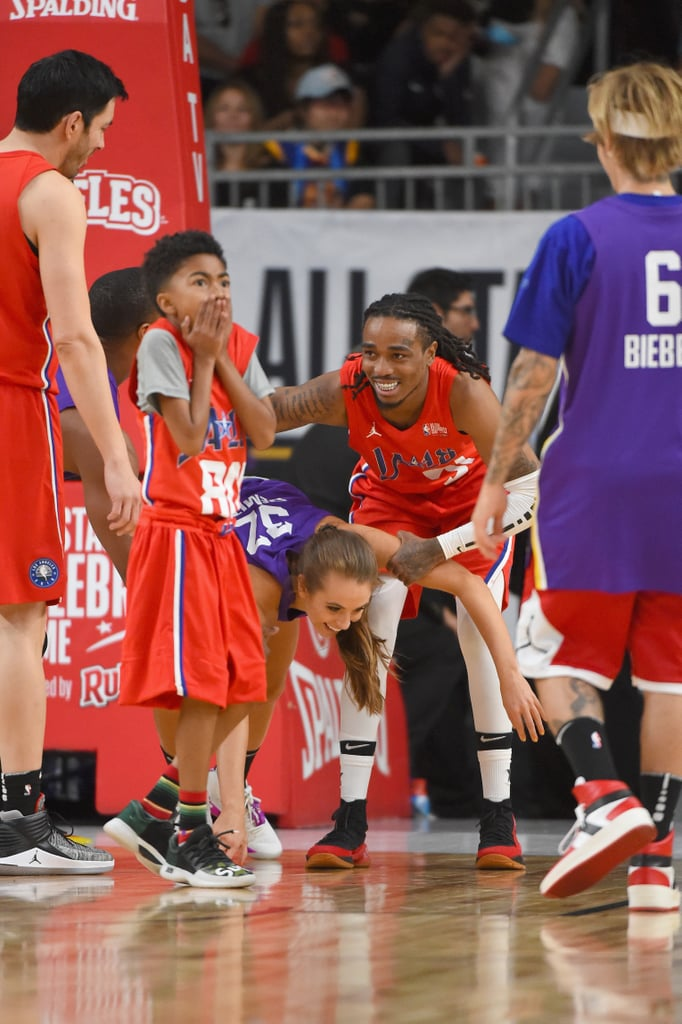 Pictures of Celebrities at 2018 NBA All-Star Celebrity Game