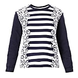 Mother of Pearl Baley Floral and Striped Sweatshirt